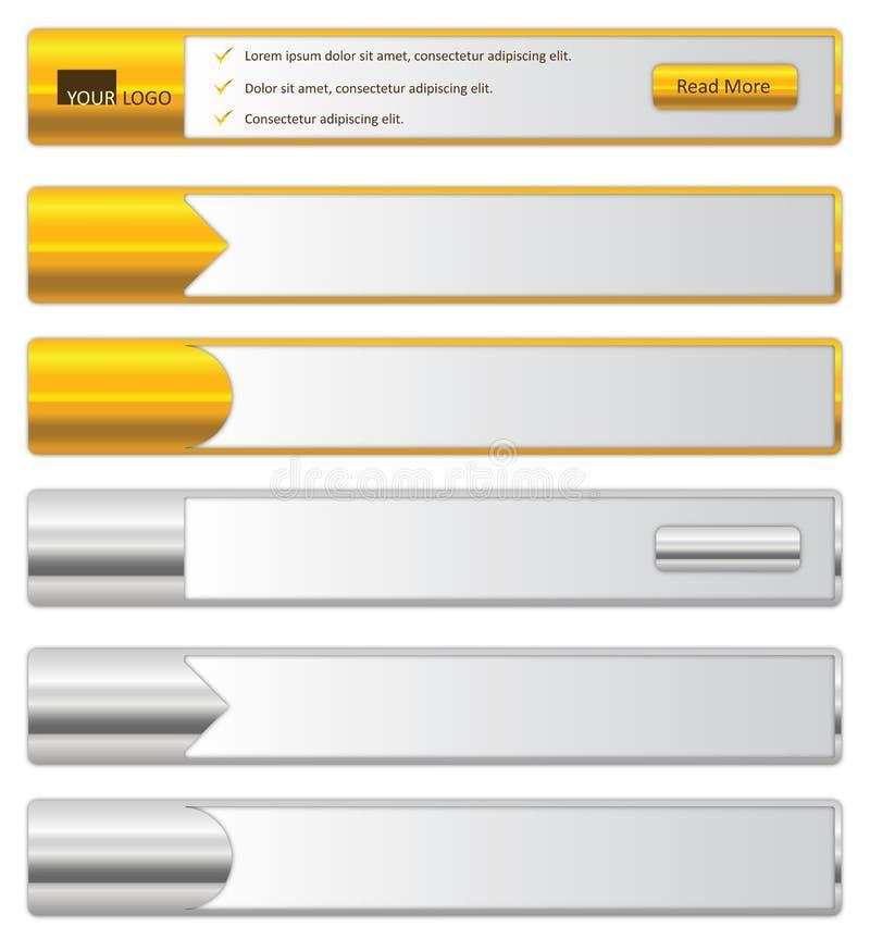 Banderas del Web ilustración del vector