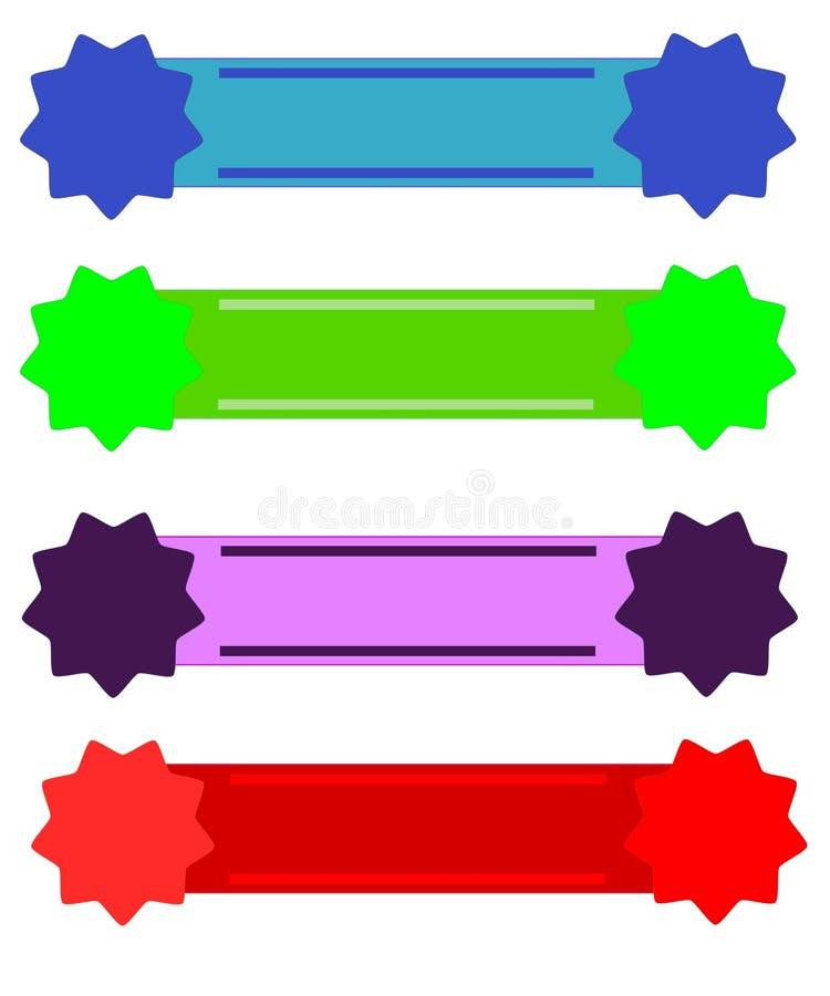 Banderas del Web stock de ilustración