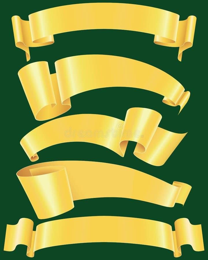 Banderas desiguales del oro libre illustration