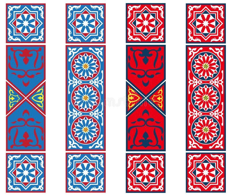 Banderas egipcias de la tela de la tienda ilustración del vector