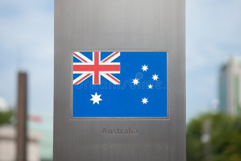 Banderas en series del polo - Australia fotos de archivo