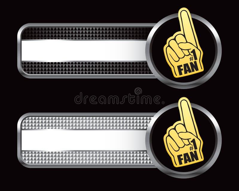 Banderas especializadas mano del ventilador ilustración del vector