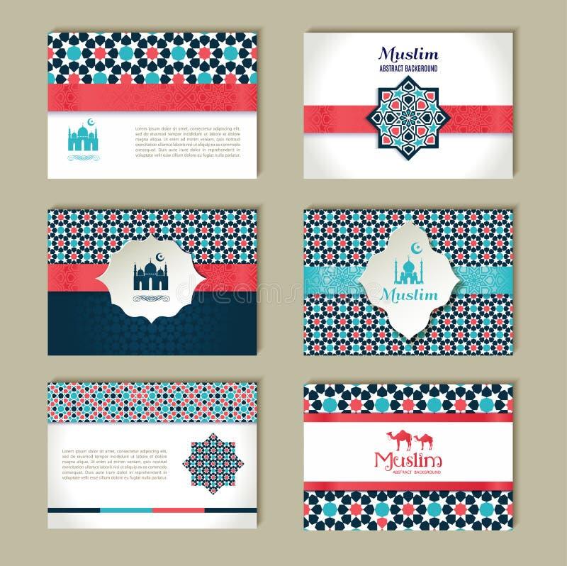 Banderas fijadas de diseño étnico Sistema del extracto de la religión de la disposición libre illustration