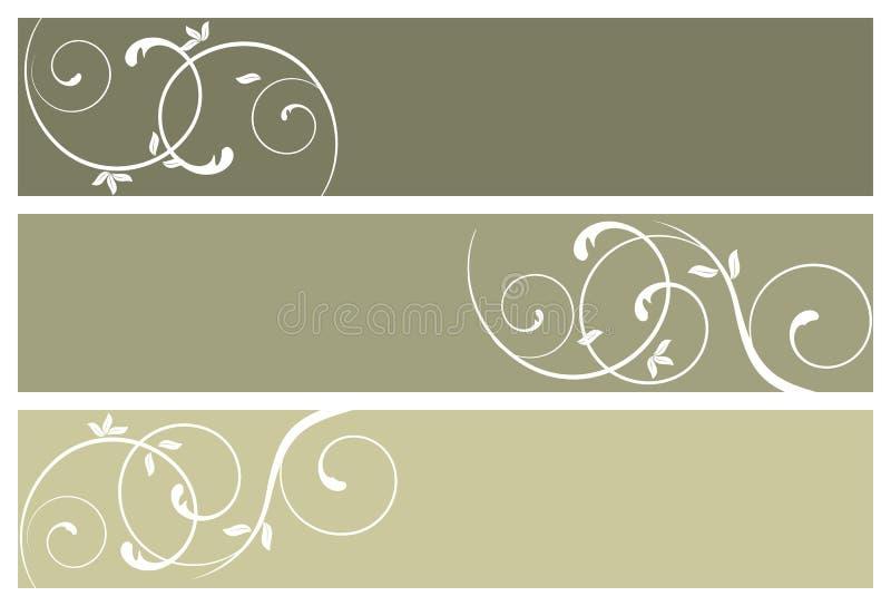 Banderas florales ilustración del vector