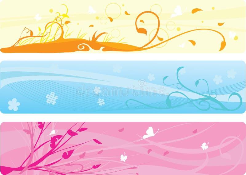 Download Banderas florales ilustración del vector. Ilustración de grande - 7276246