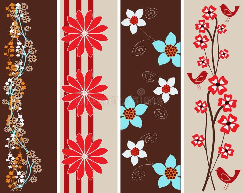 Banderas florales abstractas del Web ilustración del vector