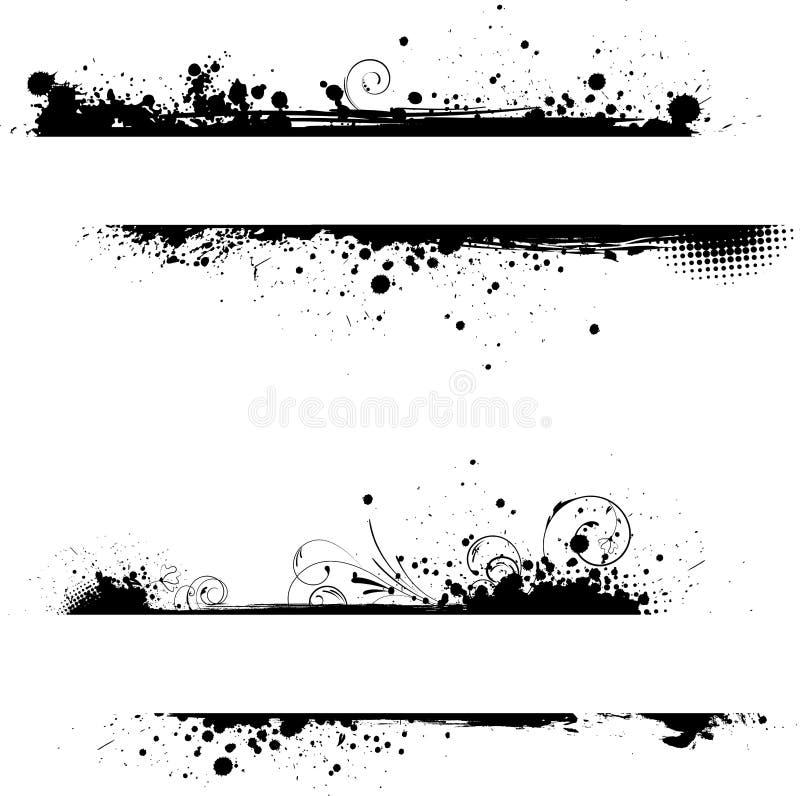Banderas florales del marco de Grunge libre illustration