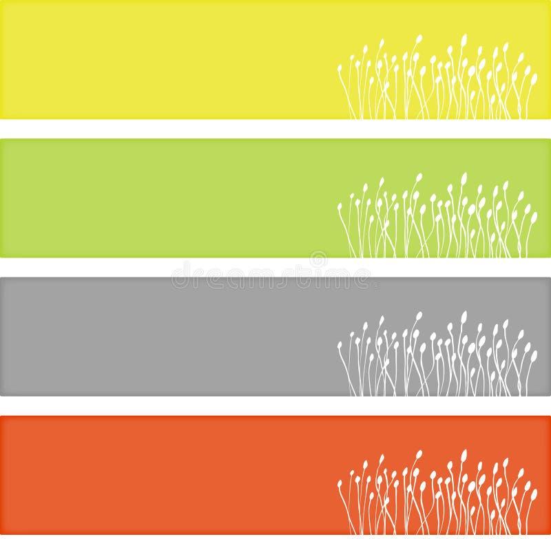 Banderas florales del Web libre illustration