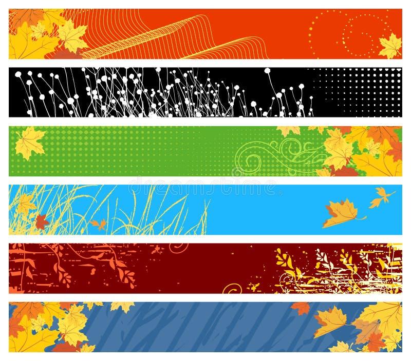 Banderas florales del Web site stock de ilustración