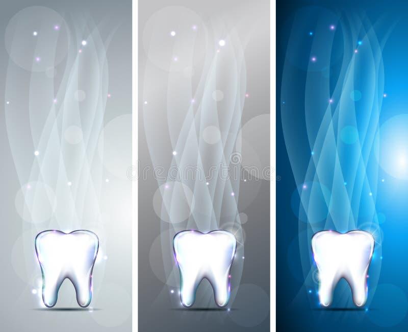 Banderas hermosas del diente stock de ilustración