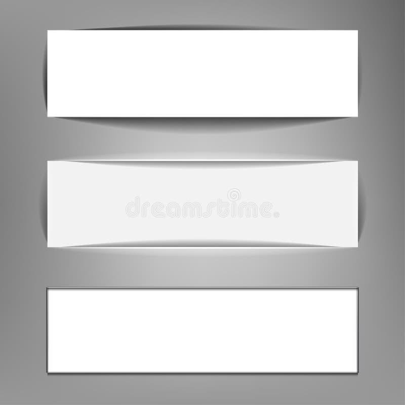 Banderas horizontales stock de ilustración