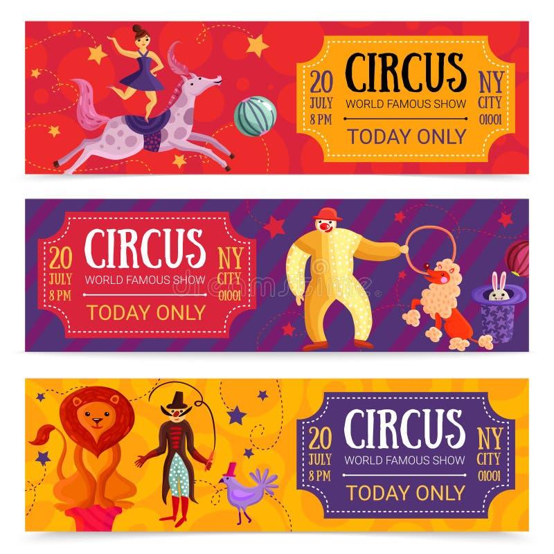 Banderas horizontales del circo fijadas libre illustration