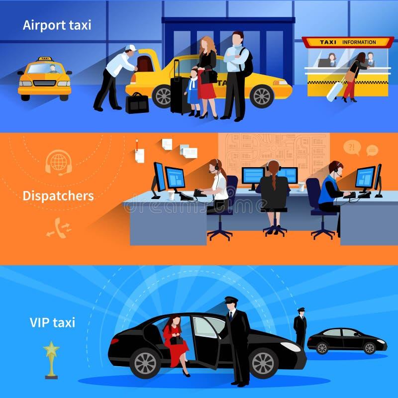 Banderas horizontales del taxi ilustración del vector