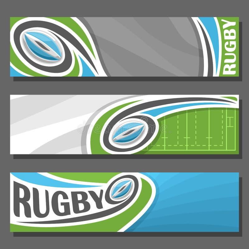 Banderas horizontales del vector para el rugbi libre illustration
