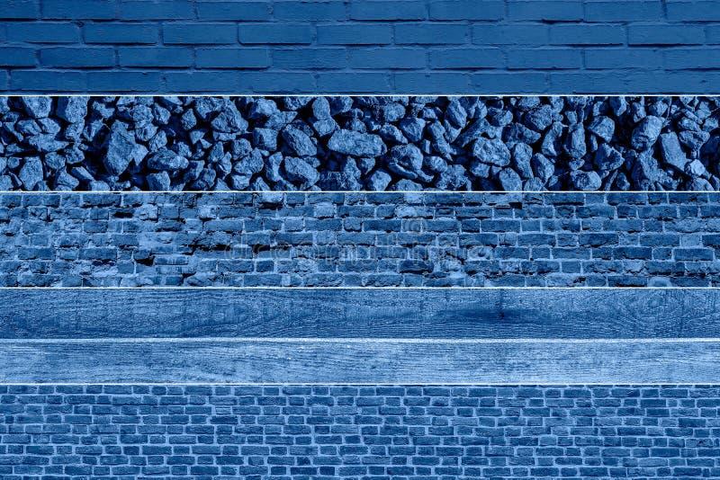 Banderas largas con textura de acera azul cobblestone imagen de archivo