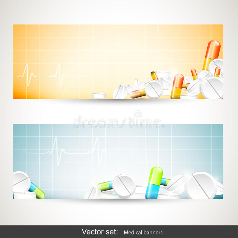 Banderas médicas stock de ilustración