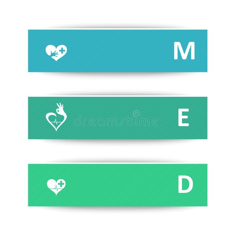 Banderas médicas ilustración del vector