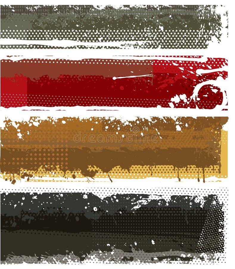 Banderas modernas fijadas ilustración del vector