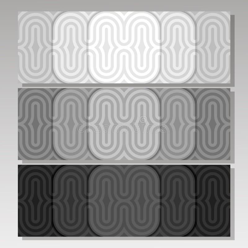 Banderas monocromáticas determinadas del fondo del vector stock de ilustración