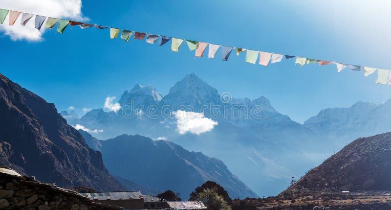 Banderas nepalesas coloridas imágenes de archivo libres de regalías