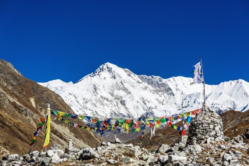 Banderas nepalesas coloridas imagen de archivo libre de regalías