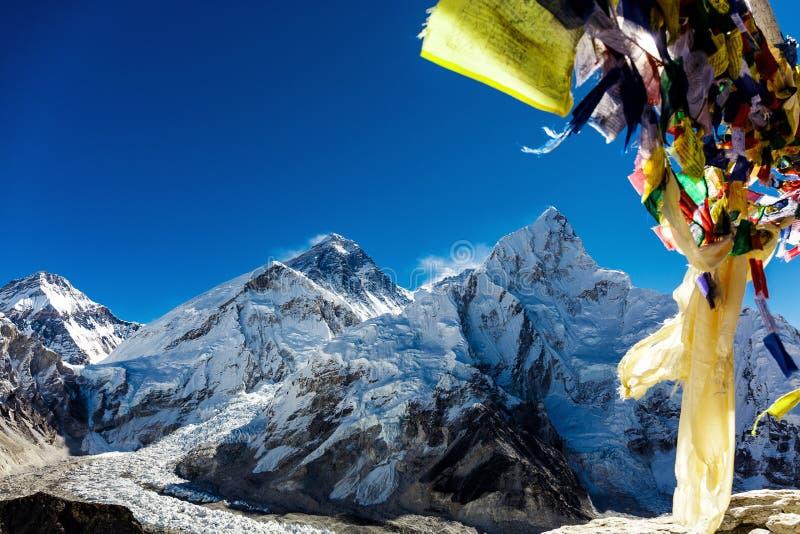 Banderas nepalesas coloridas foto de archivo libre de regalías