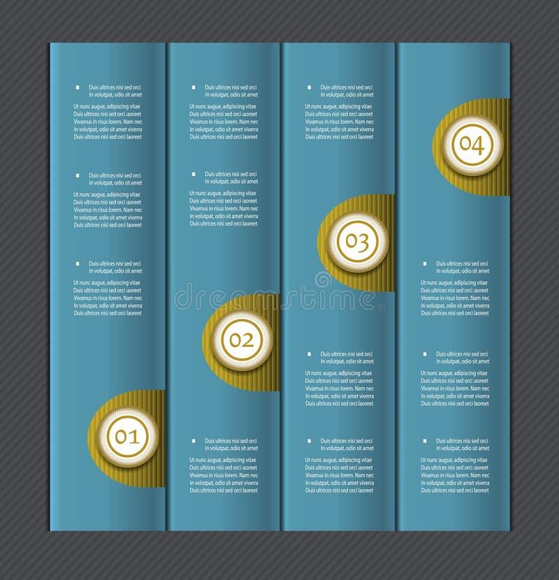 Banderas numeradas papel Modelo del diseño del vector stock de ilustración