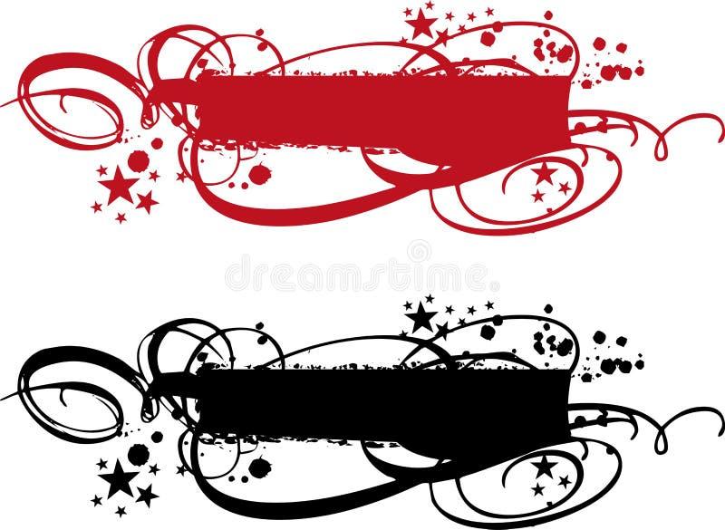 Banderas ornamentales libre illustration