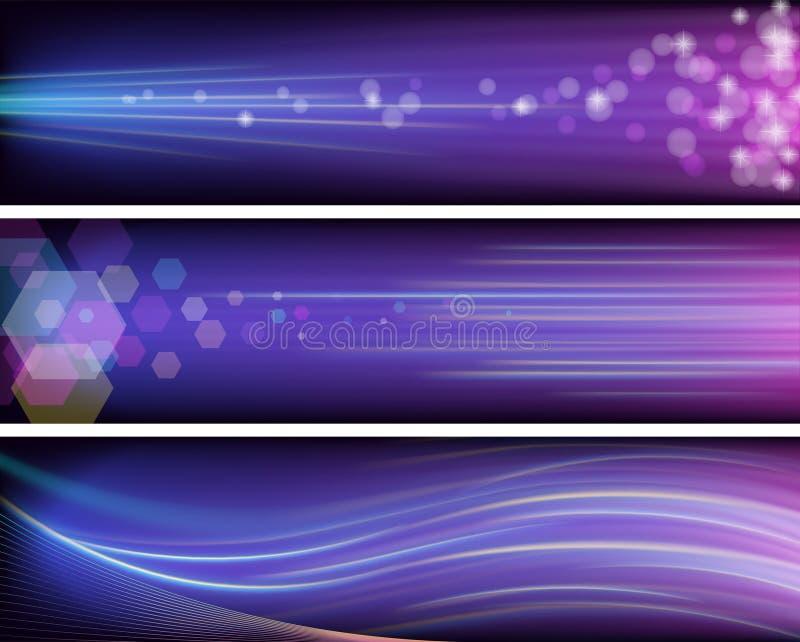 Banderas púrpuras brillantes ilustración del vector