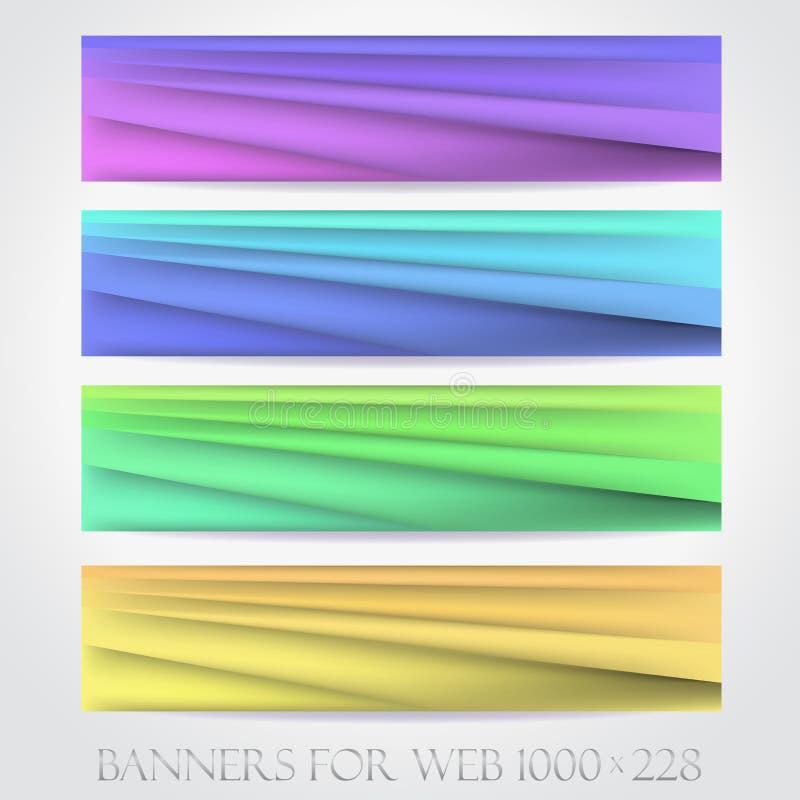 Banderas para el web. (Vector collection16) libre illustration