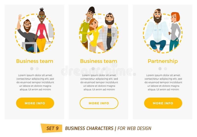 Banderas para su diseño web en estilo del negocio libre illustration