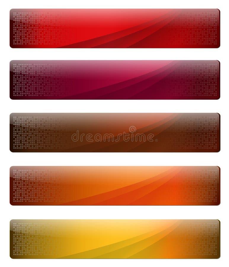 Banderas para su insignia del Web page libre illustration