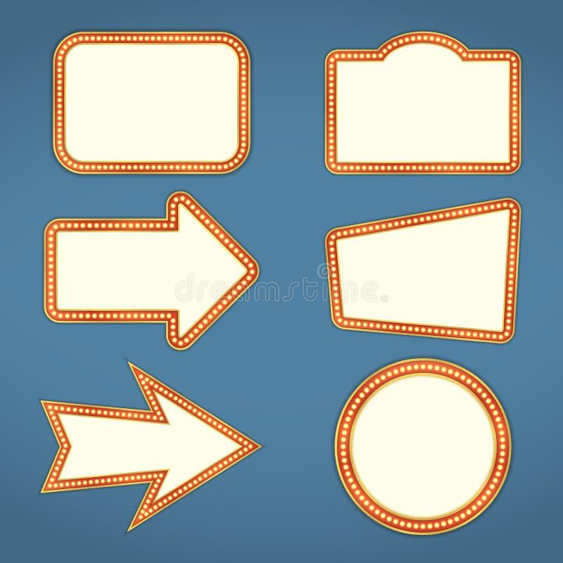 Banderas retras ilustración del vector
