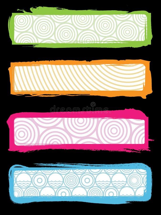 Banderas retras apenadas del Web libre illustration