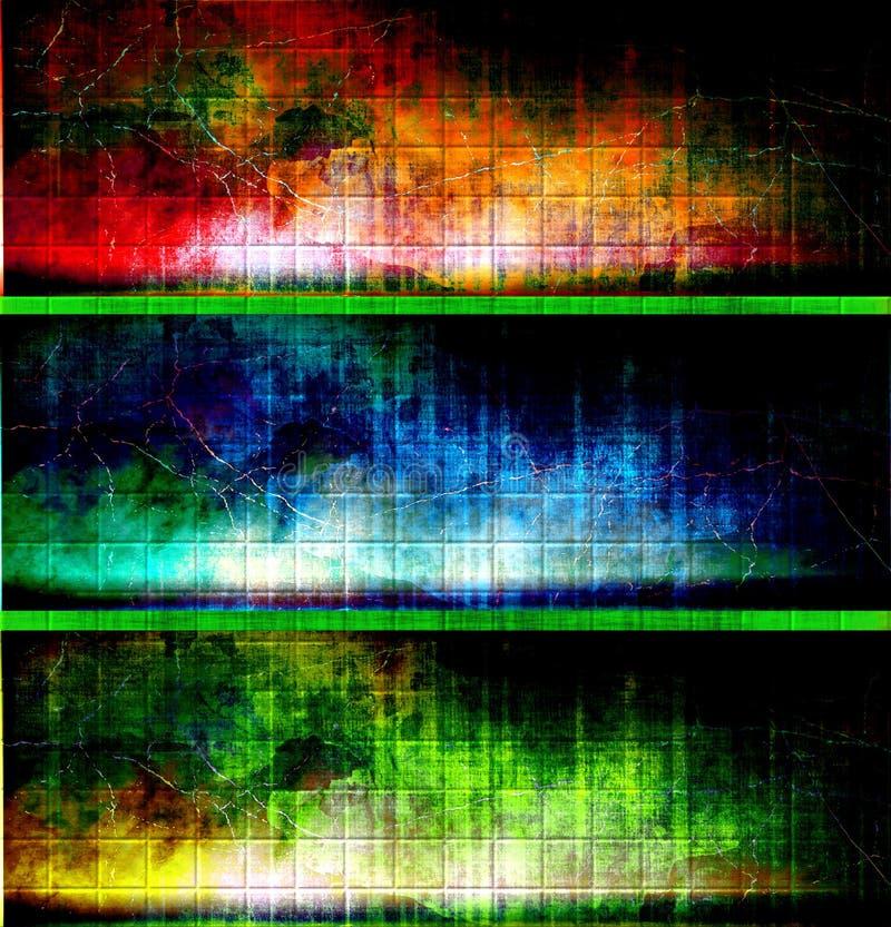 Banderas textured coloridas ilustración del vector