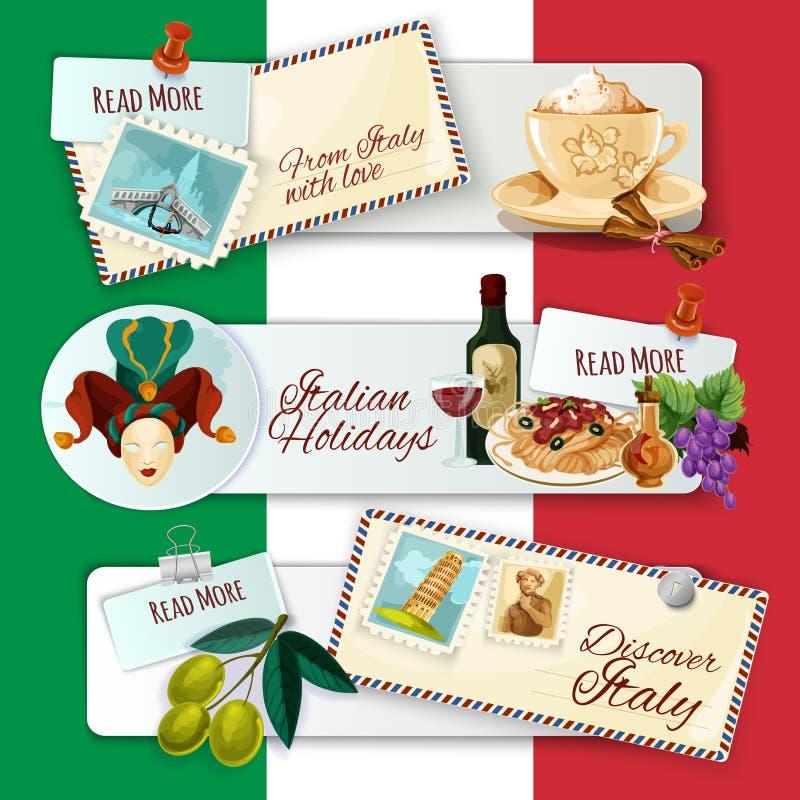 Banderas turísticas de Italia libre illustration