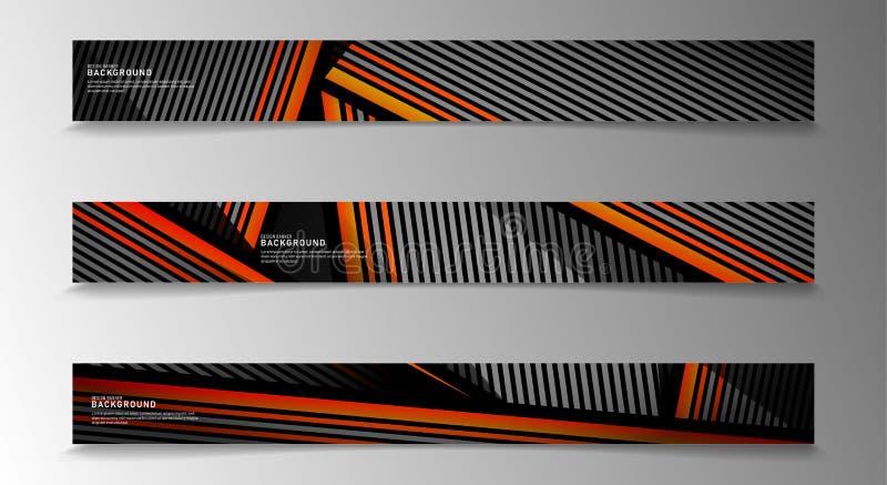 Banderas vectoriales de colección fondo abstracto a rayas con colores blanco y naranja diseño web, presentación, publicidad, etc libre illustration
