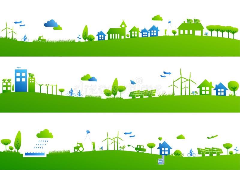 Banderas verdes de la vida imagen de archivo libre de regalías