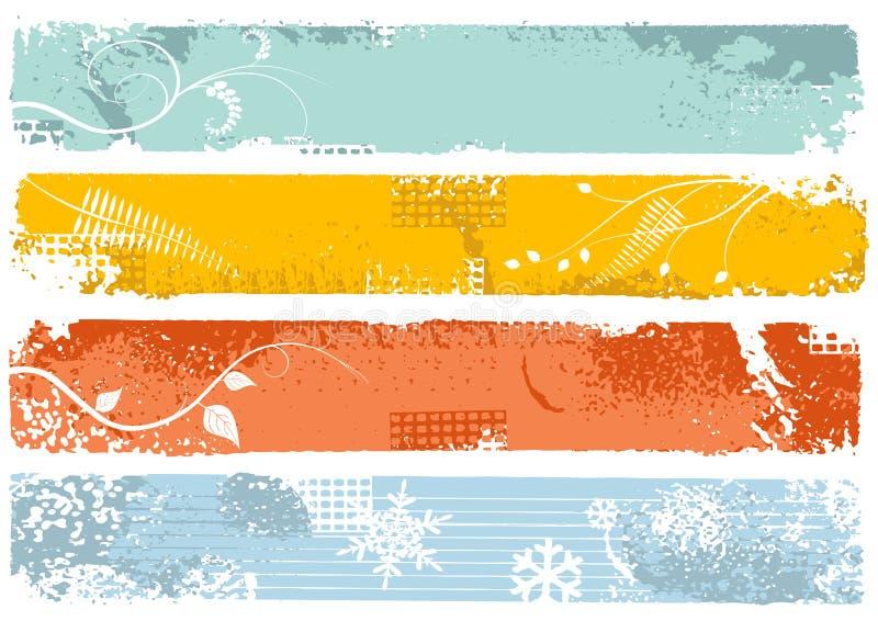 Banderas verticales stock de ilustración