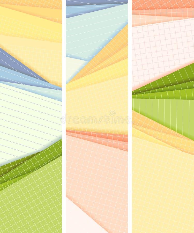 Banderas verticales alineadas y mentira ajustada del papel coloreado en cada ot libre illustration