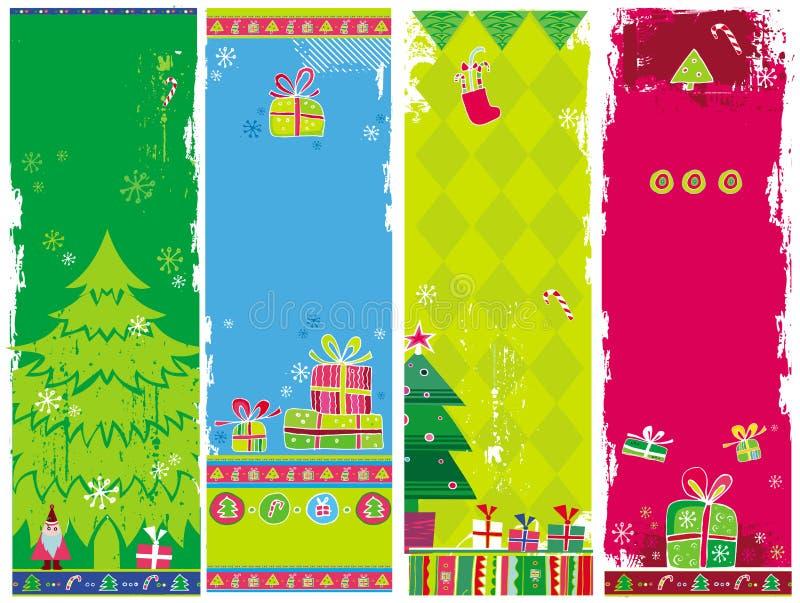 Banderas verticales de la Navidad libre illustration