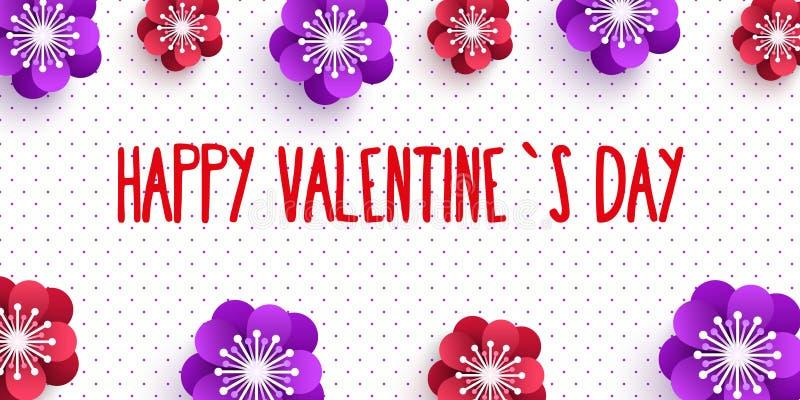 Banderas verticales de la tarjeta del día de San Valentín del día feliz del ` s fijadas Ilustración del vector H ilustración del vector