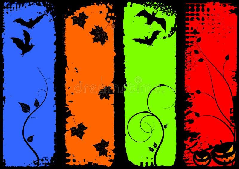 Banderas verticales de Víspera de Todos los Santos, conjunto ilustración del vector