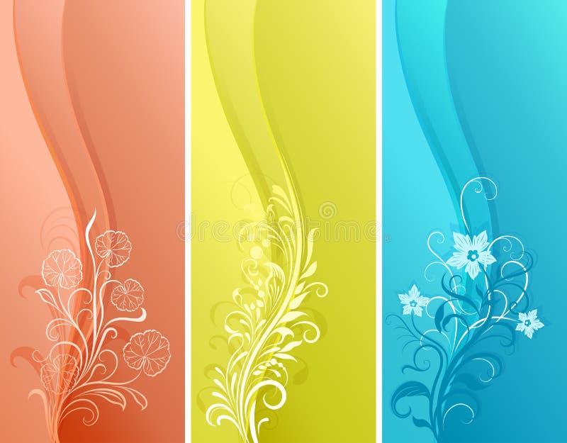 Banderas verticales del color stock de ilustración