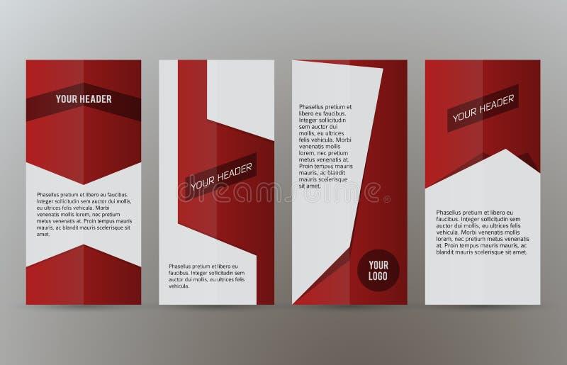 Banderas verticales determinadas background03 rojo libre illustration