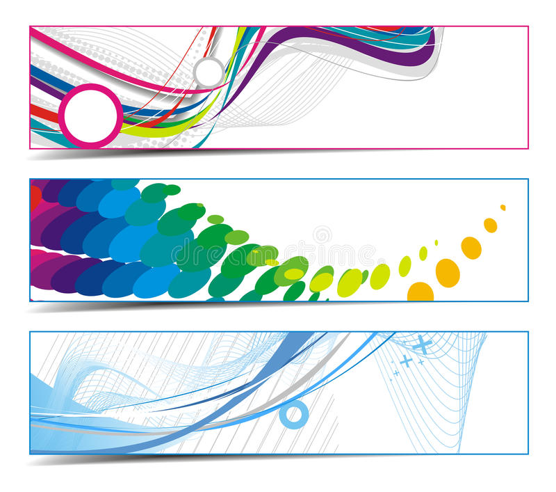 Banderas vibrantes abstractas ilustración del vector