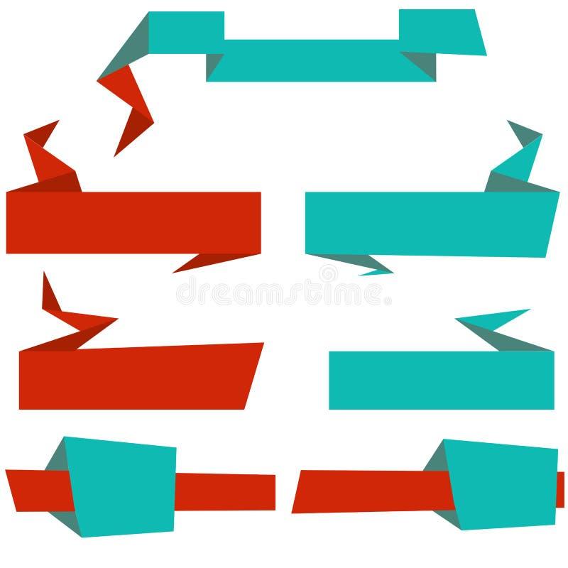 Banderas y cabeceras de la paginación fijadas ilustración del vector