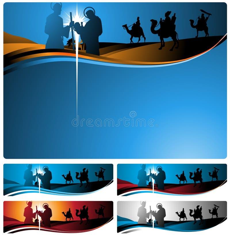 Banderas y carta de la natividad libre illustration