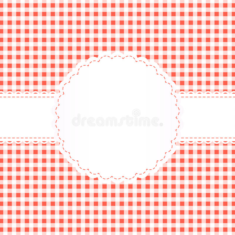 Download Banderole On Checkered Pattern Stock Vector - Illustration of embroidery, checkered: 40425833