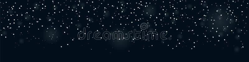 Banderole sans enneigement pour décorations hivernales illustration de vecteur